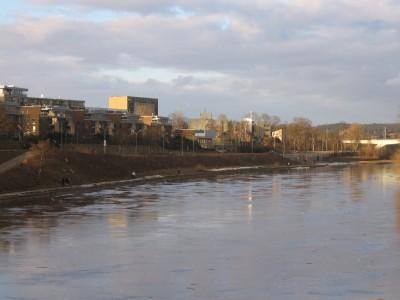 Upės vaizdas iš Antakalnio.