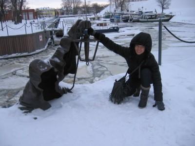 Išskyrus šią skulptūrą daugiau vaiduoklių Klaipėdoje matyti neteko.